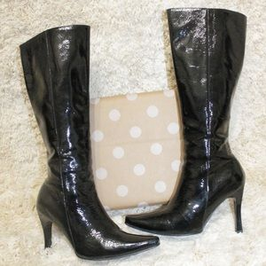 Sexy Patent Leather Heel Boots Top Ten Shops